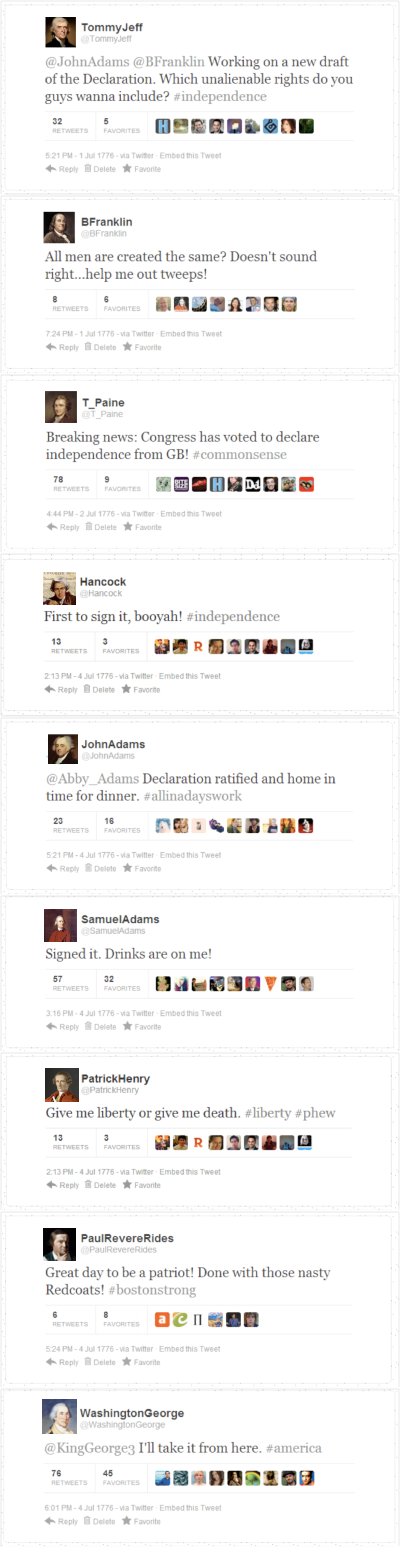 founding fathers tweets