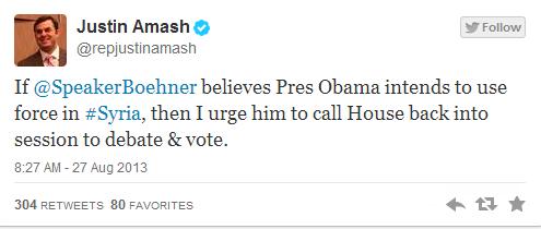 Amash Tweets